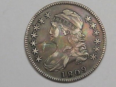 1809 US Bust Early Half Dollar (Scratched).  #24