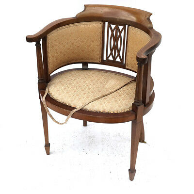 English Barrel-Back Chair
