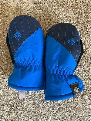 NEW Columbia Toddler Girls/boys Chippewa Mittens Blue Black One Size