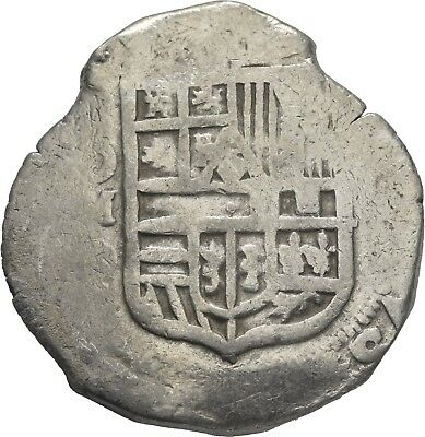 LANZ SPAIN HISPANIA FELIPE PHILIP III or IV 8 REALES COB MEXICO MD AR ±NER2047