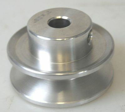"""A Section Aluminium Pulley 2"""" WITH 12MM BORE SUITABLE FOR LATHE DRILL ETC"""