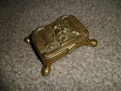 Small antique brass box