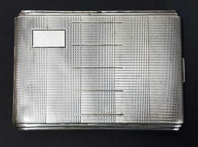 BEAUTIFUL VINTAGE ART DECO .850 SOLID SILVER CIGARETTE CASE 1920s antique