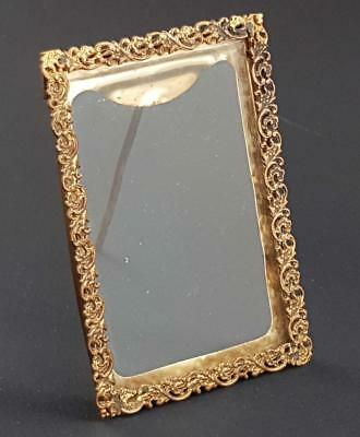 Beautiful Antique Brass Picture Photo Frame 1900
