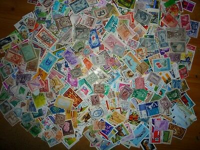 1000 different stamps taken from old stamp albums