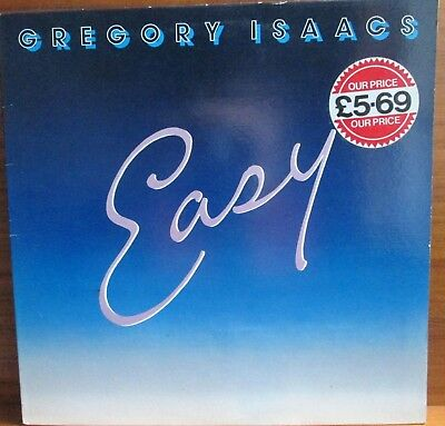 """Lp - Gregory Isaacs  =  """"easy""""  - 1985 - Made In Uk   (Reggae)"""