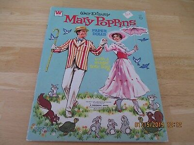 """Vintage Paper Doll Whitman """"Mary Poppins"""" Very Rare Uncut 1964/1973"""