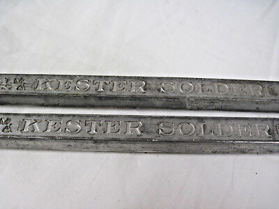 50/50 A.S.T.M. Class A Kester Solder E Bars one pound each
