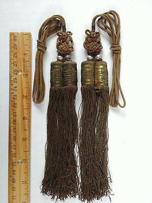 RARE ANTIQUE Chinese Sewing Basket Betty-Lou Collection Tassels & Beads 103