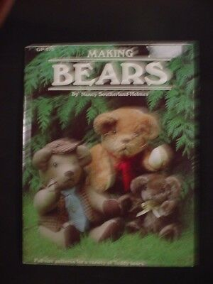 VTG 1983 How to Make TEDDY BEARS making jointed quilted FULL SIZE PATTERNS gp475