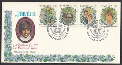 Jamaica, 1982 21st Birthday of Princess Diana Illustrated FDC. Special Handstamp