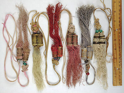 RARE ANTIQUE Chinese Sewing Basket Betty-Lou Collection Tassels & Beads 107 LOT