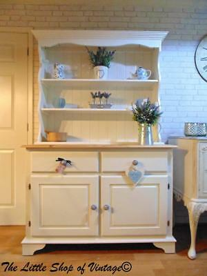 Beautiful Pine Welsh Dresser Sideboard Cupboard Cabinet Painted Shabby Chic