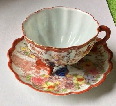 Fine Antique 19Th Century Japanese Porcelain Cup And Saucer