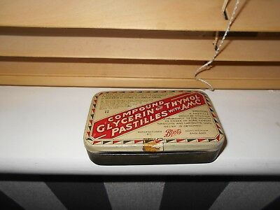 Vintage Boots Tin For Compound Glycerin Thymol Pastilles