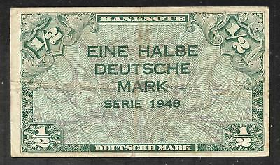 West Germany - Old 1/2 Mark Note - 1948 - P1a - FINE