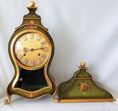 Boulle Clock Le Castel French Matching Console Louis XVI Style Wall Clock