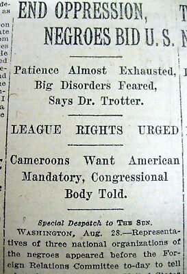 1919 newspaper 3 African-American CIVIL RIGHTS GROUPS say END WHITE SUPREMACY !