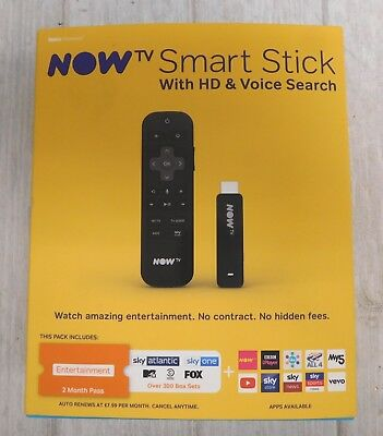 NOW TV Smart Stick with HD & Voice Search - 2 Month Entertainment - Y99