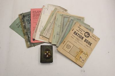 Collection of POST WORLD WAR II Ration Books, Papers  - N06