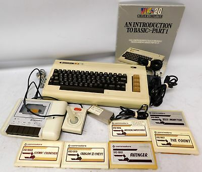 Vintage Rare COMMODORE Vic-20 with Datasette + 6x Games + Introduction pt1 - B75