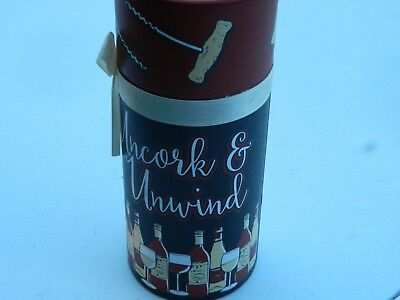 UNCORK & UNWIND Diva Wine Glass & Circular Container to Carry the Glass In