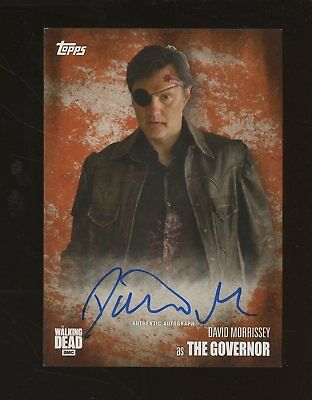 2016 Topps The Walking Dead David Morrissey Signed AUTO 16/99 The Governor