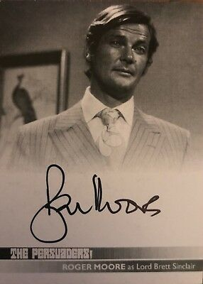 The Persuaders Roger Moore As Lord Brett Sinclair RM2 Proof Autograph Card