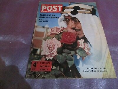 """PICTURE POST MAGAZINE 31ST DEC 1956 Cover """"SAUD OF ARABIA A King with an oil"""""""