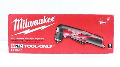 "Milwaukee 2415-20 M12 Cordless 3/8"" Right Angle Drill Driver (Bare Tool)"