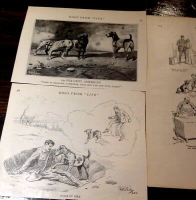 Vintage Book Page Pieces of Airedale Dog Comics - 1920's