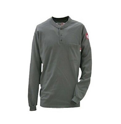 Workrite® Walls® 7 Oz. Flame Resistant Fr Henley Shirt Dark Gray X-Large New Xl