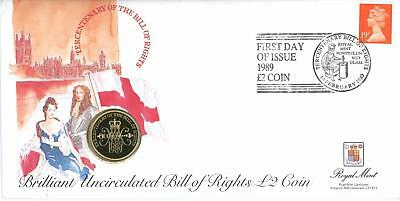 GB 1989 Bill of Rights, Royal Mail/Mint £2 Coin Numismatic FDC SCARCE!