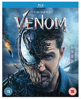 Venom - Tom Hardy UK Blu Ray Region Free Stock 2019 - Brand New and Sealed