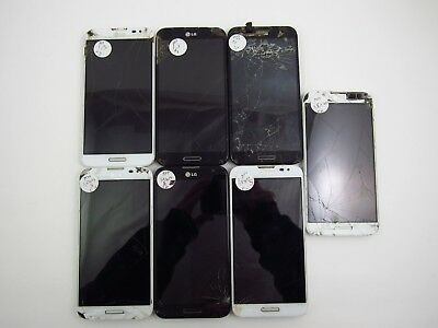 Lot of 7 Cracked Repair LG Optimus G Pro E980 ATT Check IMEI 5PR 1074