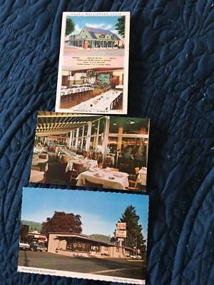 Lot of 3 roadside restaurant postcards~Seaside OR, Havana Cuba, Sharllesville PA