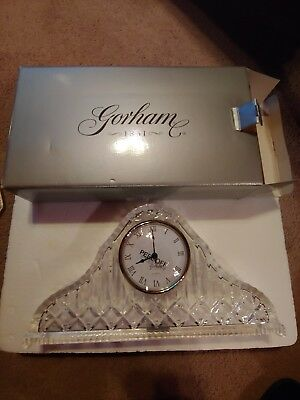 Gorham Lady Anne Crystal Glass Quartz Mantel Clock