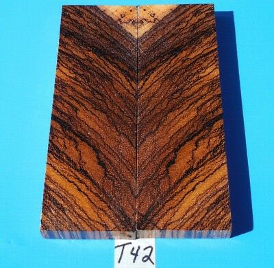 1 Pair Knife Scales Fancy Lightening Strike Figured Zebrawood~Exotic Wood Lumber