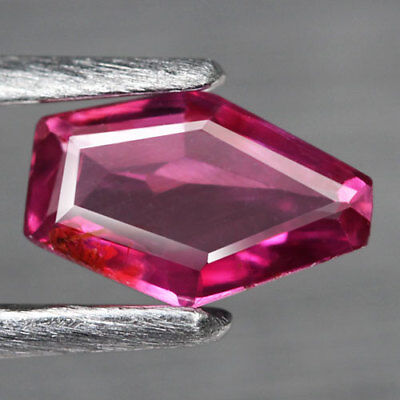 0.45Ct. Glistening! Fancy Facet Redish Pink Natural Ruby Mozambique Unheated