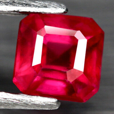 1Ct. Lovely! Scissor Cut Pinkish Red Natural Ruby Mozambique