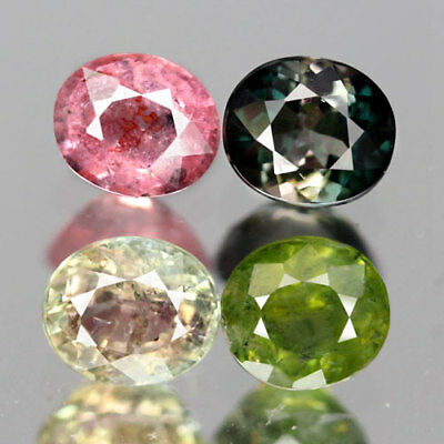 3.12Ct. Shinning! Lot Oval Facet Fancy Color Natural Tourmaline Nigeria