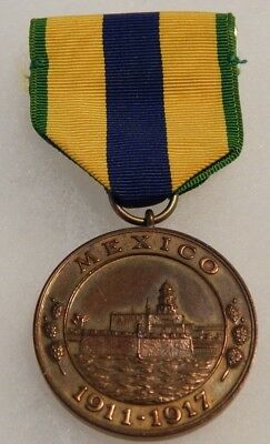 US Navy Mexico Campaign Medal 1911-1917 Sewn Slot Broach