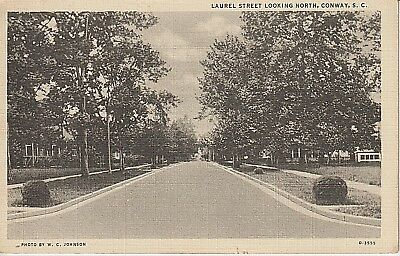 1930's Laurel Street, Looking North in Conway, SC South Carolina PC