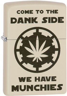 Zippo Choice Come To The Dank Side Munchies WindProof Lighter Cream Matte 29590