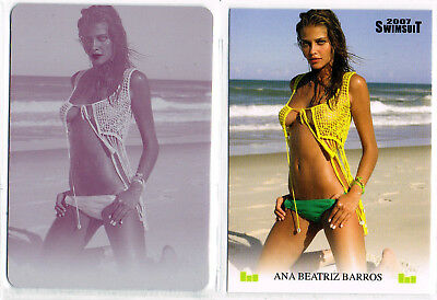 2007 Si Swimsuit; Ana Beatriz Barros Printing Plate, Sports Illustrated