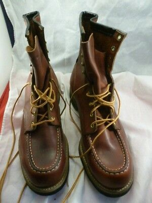 Vtg. Sears Ted Williams Leather Work Boot Moc Toe New Old Stock W/box Size 12D