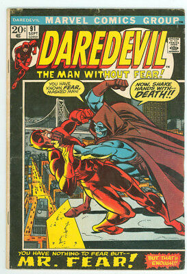 Daredevil #91 #96 #99 #102 #106 Marvel 1972 5 Issue Lot FN Combined Ship Avail