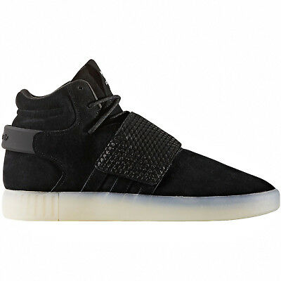 separation shoes afb81 0b4a8 New Adidas Originals Tubular Invader Strap Mid Mens Shoes Black Suede - Size  9.5