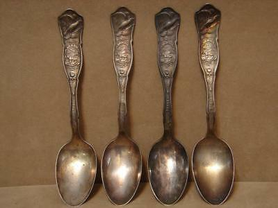 Vintage 1881 Rogers A1 Silver Ohio Souvenir Spoon Lot Of 4