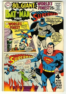 World's Finest #179 (1968) F/VF New DC Silver Age Collection 80 Pg Giant